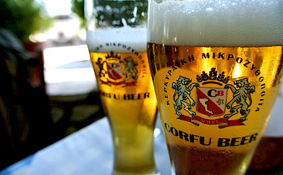 Corfu beer in Corfu, Greece. Flickr:Christos Semertzidis