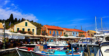 Harbor in Fiskardo, Kefalonia Island in Greece. Photo via Flickr:Marcus Ward