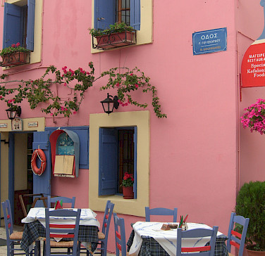 Restaurant in Fiskardo on Cephalonia (also Kefalonia) Island in Greece. Photo via Flickr:Spiros Vathis