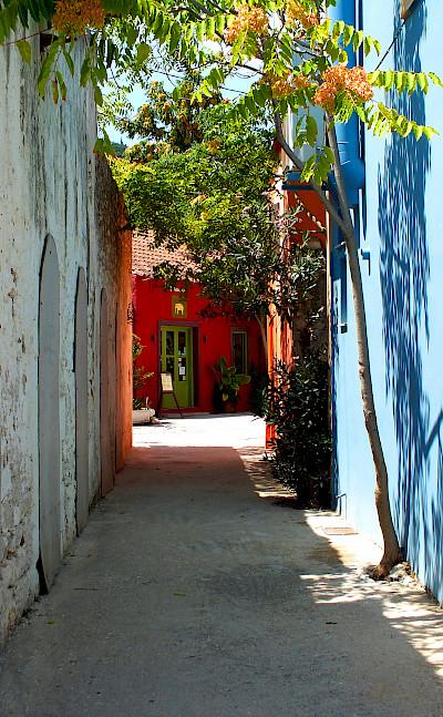 Bike rest in Fiskardo on Cephalonia Island, Greece. Flickr:Marcus Ward