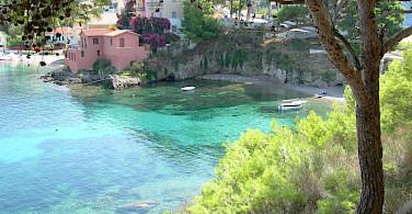 Azure waters off Kefalonia Island, Greece. Photo via Flickr:Michael Button