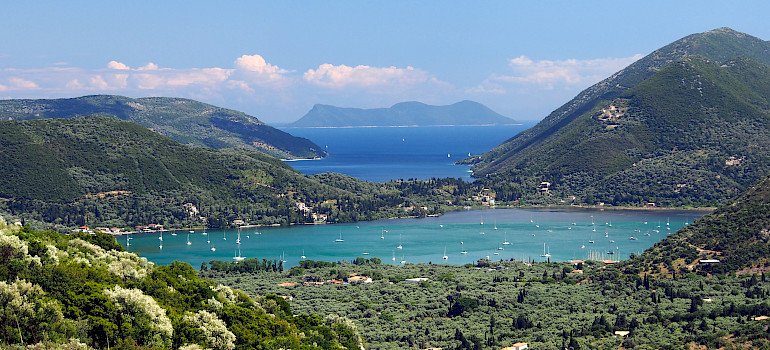 Lefkada Island, one of the 7 Ionian Islands in Greece. Photo via Wikimedia Commons:Alf van Beem