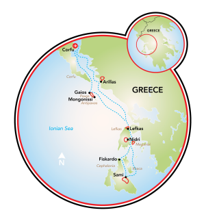 Multi-Adventure Tour in the Ionian Islands Map