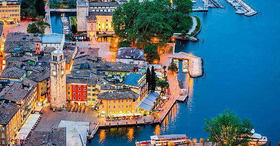 Riva del Garda on Lake Garda in Italy. ©Photo via TO 45.884691, 10.839074