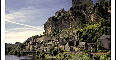 Biking along the Dordogne River in Beynac, France. Photo via Flickr:@lain G