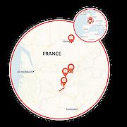 Discover the Dordogne E-Bike tour Map