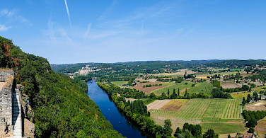 View from Chateau de Castelnaud, Dordogne, France. Photo via Flickr:Mike Locke
