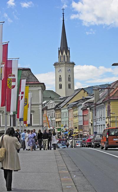 Altstadt of Villach in Carinthia, Austria. CC:Hans Peter Schaefer