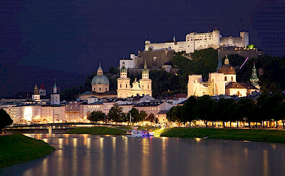 Hohensalzburg in Salzburg on the Salzach River in Austria. CC:Jiuguang Wang