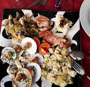 Tasty treats to fuel the bike tour in Trieste, Italy. Photo via Flickr:antonio