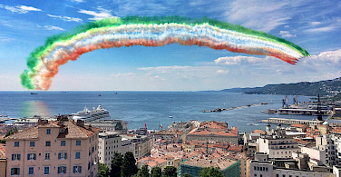 Flyover in Trieste, Italy - near Slovenia and Croatia. Photo via Flickr:giulio