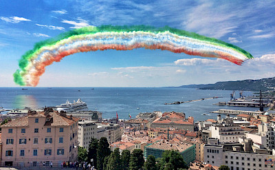 Flyover in Trieste, Italy - near Slovenia and Croatia. Flickr:giulio