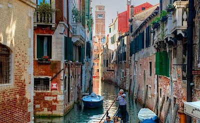 Gondola ride in Venice, Veneto, Italy. ©Hollandfotograaf