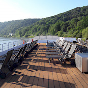 The sundeck on the De Amsterdam is a wonderful place to relax