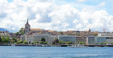 Geneva on Lake Geneva in Switzerland. Photo via Flickr:Dennis Jarvis