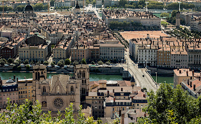Lyon lies at the confluence of the Saone and Rhone Rivers, France. Flickr:Sandrine Neel