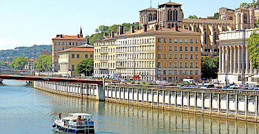 Scenic view of Lyon along the Saone River, France. Photo via Flickr:Dennis Jarvis