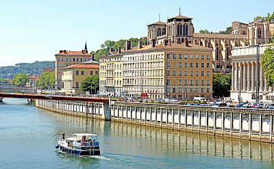 Scenic view of Lyon along the Saone River, France. Flickr:Dennis Jarvis