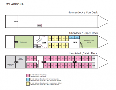 Deck plan - Ankora | Bike & Boat Tours