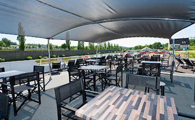 Sun deck on MS Arkona | Bike & Boat Tours
