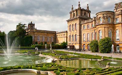 Blenheim Palace, where Winston Churchill was born, in Woodstock, Oxfordshire, England. Flickr:Sheila Sund