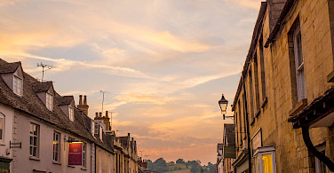 Sunset in the Cotswolds, England.