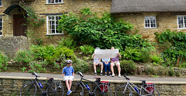 Bike rest in Ebrington, Cotswolds, England.