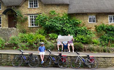 Bike rest in Ebrington, Cotswolds, England.
