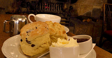 Scones and tea in Chipping Campden, Cotswolds, England. Photo via Flickr:Mr Thinktank