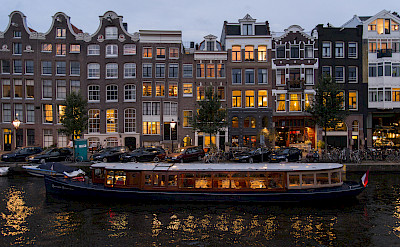 Canals run all around Amsterdam, North Holland, the Netherlands. Flickr:briyyz