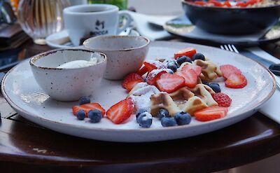 Belgian waffles. Unsplash:T. Kaiser