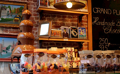 Chocolates are amazing in Bruges, Belgium. Flickr:Jeff Brian