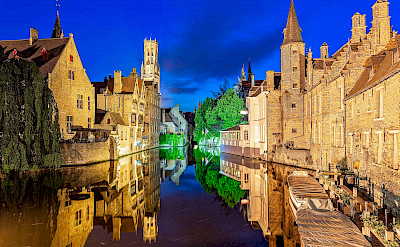 Dijver Canal in Bruges, Belgium. Flickr:Jiuguang Wang