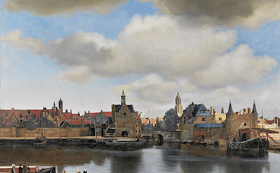 Painting circa 1660 of Delft by Johannes Vermeer.