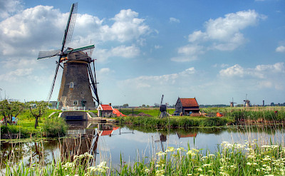 The many windmills at Kinderdijk, South Holland, the Netherlands. Flickr:John Morgan