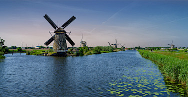 Windmills aplenty in Kinderdijk, South Holland, the Netherlands. Photo via Flickr:Norbert Reimer