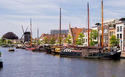 Harbor in Leiden, the Netherlands. Flickr:Roman Boed