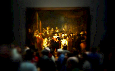 Rembrandt's famous painting at the Rijksmuseum in Amsterdam, North Holland, the Netherlands. Flickr:Neil Thompson