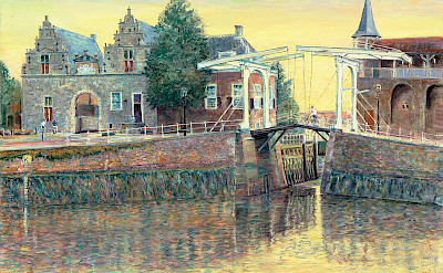 Drawbridge painting by Hubertine Heijermans of Zierikzee.
