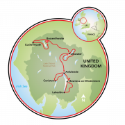 England's Lake District E-Bike Tour Map