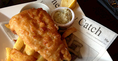 Fish and chips for lunch in the Lakes District, England... Photo via Flickr:Smabs Sputzer