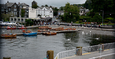 Biking and boating on Lake Windermere, Lakes District, England. Photo via Flickr:Lawrence Lee
