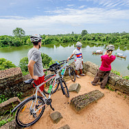 Bike rest in Angkor, Cambodia. Photo via TO.