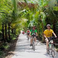 Delta River bike tour in Cambodia. Photo via TO.