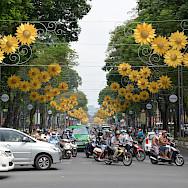 Bustling traffic in Ho Chi Minh City, Vietnam. Photo via Flickr:Paul Arps