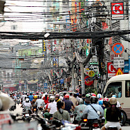 Traffic in Ho Chi Minh City, Vietnam. Photo via Flickr:Don Chili