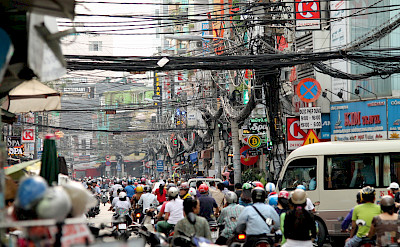 Traffic in Ho Chi Minh City, Vietnam. Photo via Flickr:Don Chili