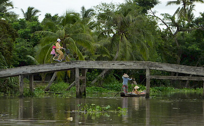 Biking and boating the Mekong Delta in Can Tho, Vietnam. Photo via Flickr:Ronan Crowley