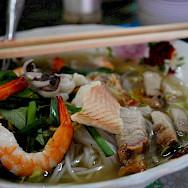 Fish noodle soups define the Mekong Delta region in Vietnam. Photo via Flickr:Alpha