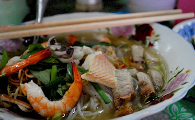 Fish noodle soups define the Mekong Delta region in Vietnam. Photo via Flickr:Alpha